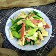 腐竹黄瓜炒火腿