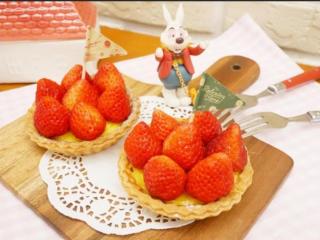 卡士达草莓塔