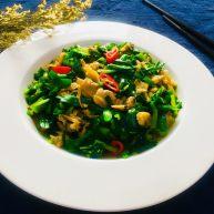 韭菜炒花蛤肉