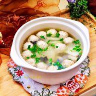 点翠清汤白玉丸➕木耳冬瓜丸子汤