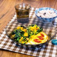 菠菜荷包蛋杂粮套餐(350大卡)