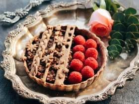 樹莓核桃撻
