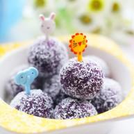 奶香芒果夹心紫薯球