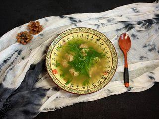 苦苣肉丸汤