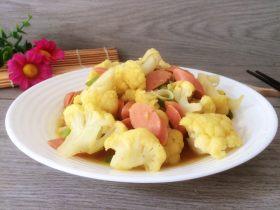 咖喱花椰菜拌火腿