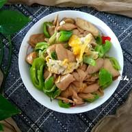 杏鲍菇尖椒炒鸡蛋
