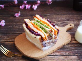 蒸烤鸡胸时蔬三明治(便携美食)