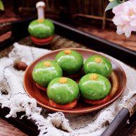 青菜香干虾皮青团