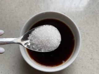 酱汁杏鲍菇,一小勺白糖