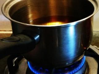 糖醋小排,小火加热