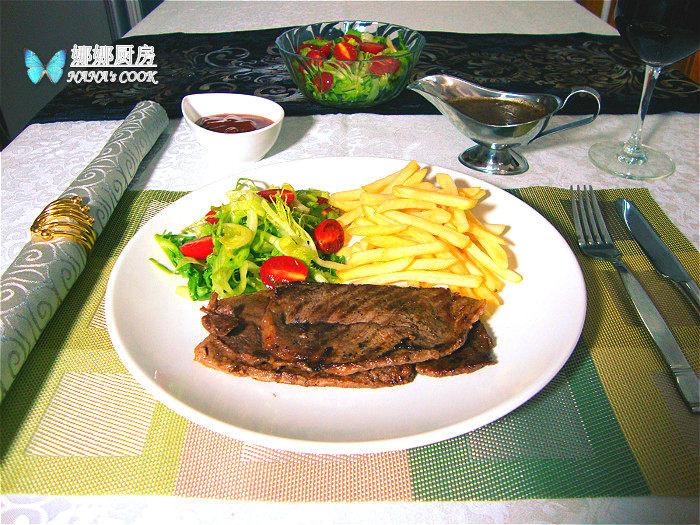 黑椒牛排套餐