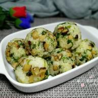 雪菜香菇團子