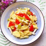 海鲜菇炒玉米笋