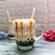 黑糖珍珠奶盖奶茶