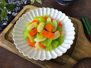 山药胡萝卜炒莴笋