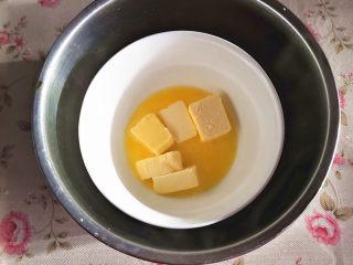 脆香吐司条,黄油隔水软化为液体,