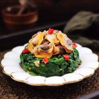 蒜蓉菠菜拌毛蛤