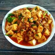 香辣肉沫豆腐