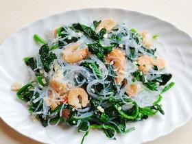 海米菠菜拌粉丝