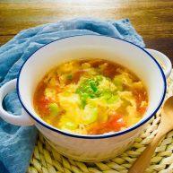 蚕豆米西红柿鸡蛋汤