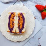 紫薯肉松三明治