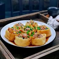 芹菜肉糜酿油豆腐