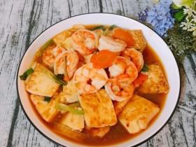 酱烧虾仁豆腐
