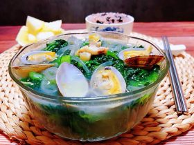 小白菜蚬子汤
