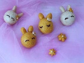 萌萌哒小兔豆沙包