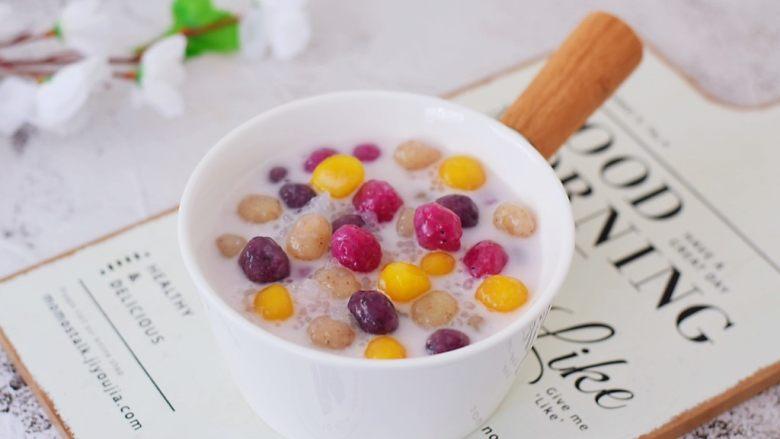 椰香西米水果芋圆