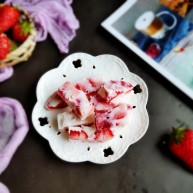 草莓炒酸奶+南瓜芋圆水果捞