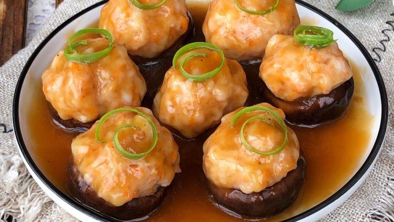 香菇酿虾丸