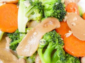 视频|西兰花松茸炒鸡胸肉|牛佤松茸食谱