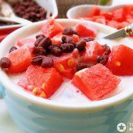 红豆牛奶西瓜冰