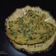 玉米面、好面蔬菜饼