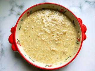 香蕉烤燕麦,搅拌均匀。
