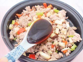 香菇肉酱拌面,加入蚝油