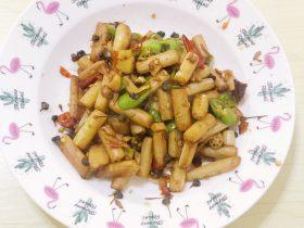 韭菜花炒藕尖