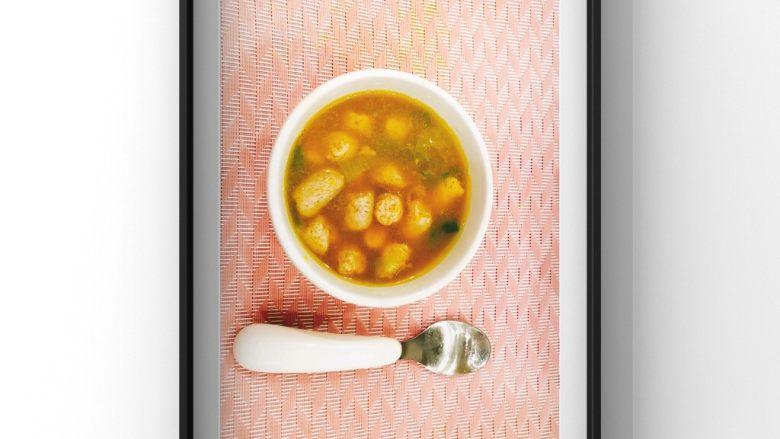南瓜肉粒汤
