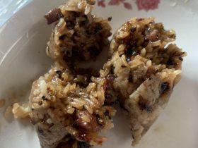 猪肉菜干粽子