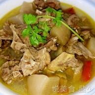 简易版酸萝卜老鸭汤