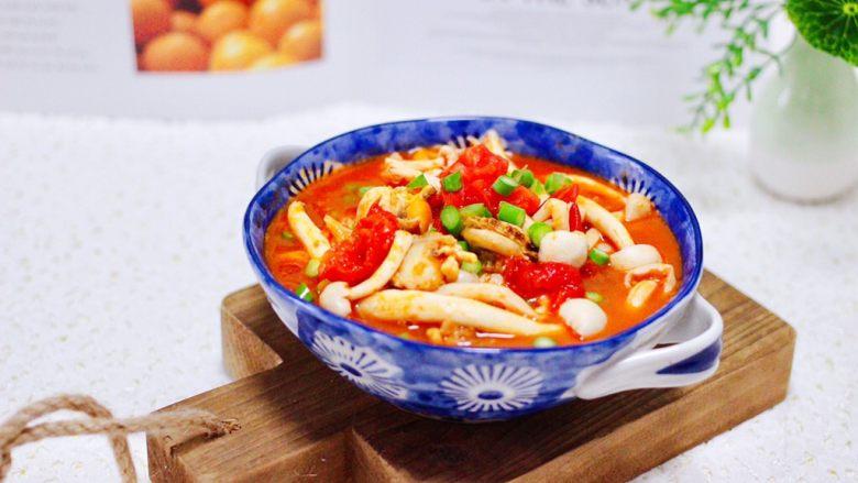 番茄扇贝烩白玉菇