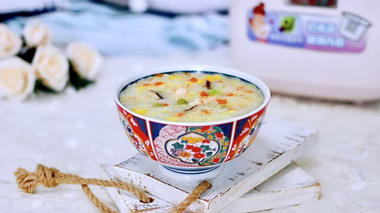海虾时蔬双米粥(宝宝辅食)