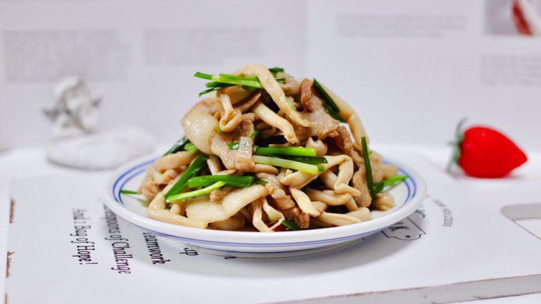 花肉白玉菇小炒