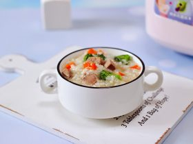 西兰花猪肝粥(宝宝辅食)
