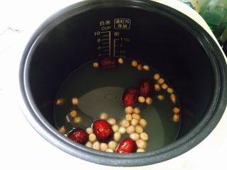 红枣花生黑小米粥,热水量约800ml