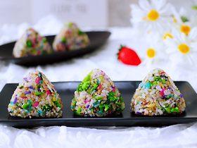 藜麥海苔五彩米飯團