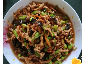 青椒肉丝毛豆米
