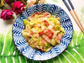 洋葱培根卷心菜