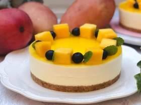 百香芒果双层生乳酪蛋糕(免烤箱)